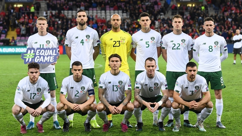 The Republic of Ireland team before the clash with Switzerland
