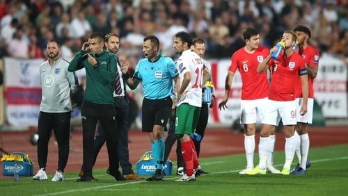 The game was stopped twice due to abusive chanting from fans