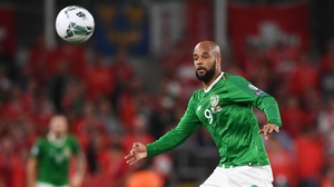 David McGoldrick in action for Ireland