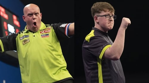Michael van Gerwen expects big things from Keane Barry