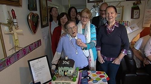 Nancy Stewart celebrated her birthday at her home near Clonard today