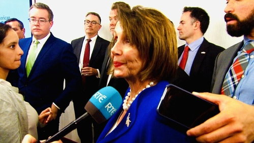 Nancy Pelosi said there will be no trade deal between the US and UK if Brexit violates the Good Friday Agreement