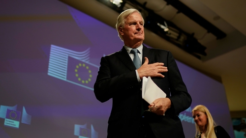 """Michel Barnier said that the Brexit process has been a """"school of patience"""""""