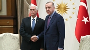 Mike Pence and Recep Tayyip Erdogan meeting in Ankara