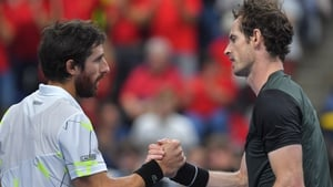 Uruguay's Pablo Cuevas was no match for Andy Murray, who is continuing his recovery from hip surgery