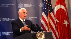 Miker Pence said that the Kurdish militia's withdrawal had 'already begun'