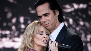 Nick Cave pictured with Kylie Minogue