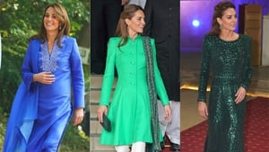 The Duchess of Cambridge paid homage to the country by wearing a shalwar kameez and a kurta.