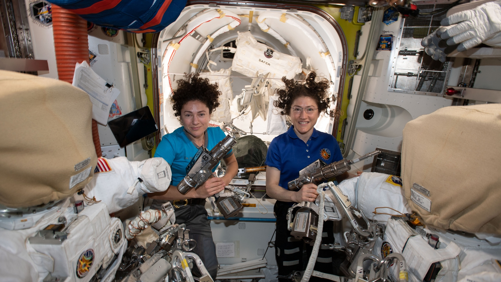 Image result for U.S. astronauts carry out 1st all-female spacewalk