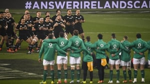 Ireland beat New Zealand in a 'friendly' last November
