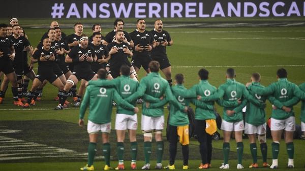 Ireland beat New Zealand in a 'friendly' last November