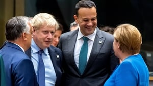 The British PM, Irish Taoiseach and German Chancellor at the European Summit
