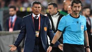 Krasimir Balakov (L) pictured at Monday's game