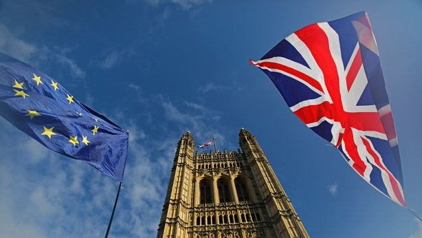 British and Euro flags