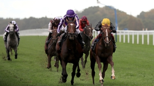 Kew Gardens ridden by Donnacha O'Brien (l) prevailed in a thriller