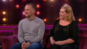 "PJ Gallagher with Katherine Lynch on the Ray D'Arcy Show - ""It's not until you start writing it you go, 'That was a bit mad, wasn't it?'"""