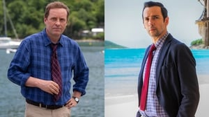 Ardal O'Hanlon is passing the Death in Paradise baton to Ralf Little