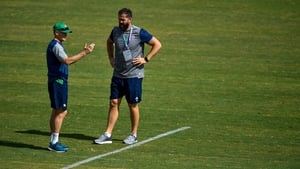 Andy Farrell, right, is taking over from Joe Schmidt as Ireland head coach