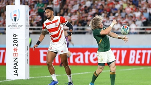 South Africa overcame a gritty Japan side in the quarter-final