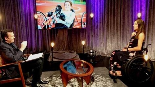 Dr Paul D'Alton and Geraldine Lavelle on the set of RTÉ One's Survivors