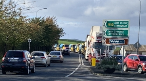 Truck drivers from Donegal and Derry took part in the convoy