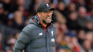 Klopp's reds lead the Premier League by six