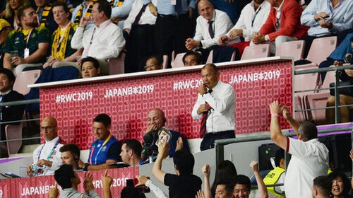Eddie Jones watches on as England took care of Australia