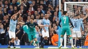Tottenham knocked Man City out of last season's Champions League