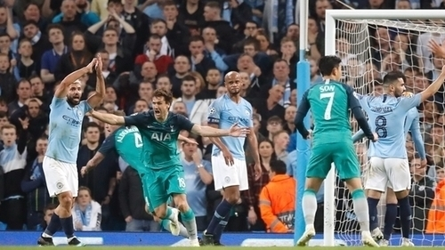 Tottenham knocked Man City out of last season's Champions League