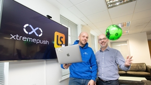 Kevin Collins, CTO of XtremePush and LiveScore's CCO Derren Maggs