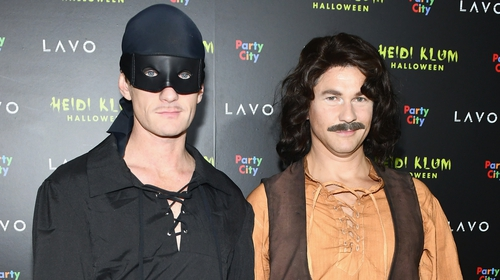 Neil Patrick Harris (L) and David Burtka attend Heidi Klum's 19th Annual Halloween Party
