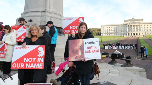 Stormont Assembly meets in symbolic bid to block abortion, same-sex marriage laws
