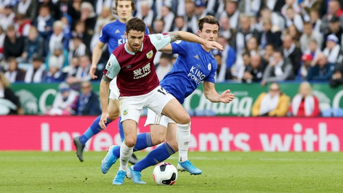 Robbie Brady in action for Burnley on Saturday