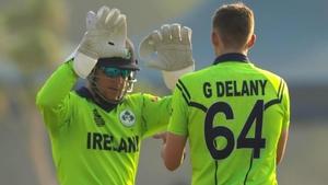 Gareth Delany was the best of the Irish batsmen in Abu Dhabi