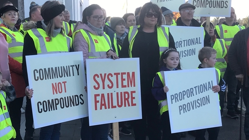 The organisers have expressed complete opposition to the proposed re-housing of 130 asylum seekers in Ballinamore