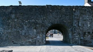 The Columbus monument is situated close to the Spanish Arch in Galway city
