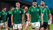 Jonathan Sexton (L) and Iain Henderson after Ireland's defeat to New Zealand