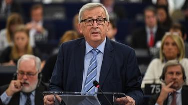 Jean-Claude Juncker i bParlaimint na hEorpa i Strasbourg inniu
