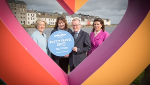 Bridgette Brew, Galway 2020; Nóirín Hegarty, VP Digital Content, Lonely Planet; Niall Gibbons, CEO of Tourism Ireland; and Patricia Philbin, CEO of Galway 2020, at the Lonely Planet announcement