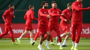 Mohamed Salah back training having missed Liverpool's clash with Man United at the weekend