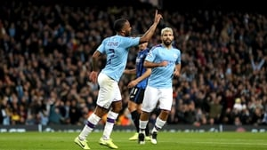 Raheem Sterling and Sergio Aguero scored all five of City's goals