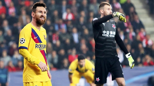 Lionel Messi (L) has scored 113 goals in the Champions League