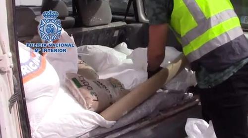 Police said they found 66 bags of methamphetamine (Courtesy: Spanish National Police)