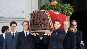 The exhumation was witnessed by a select few including Franco's descendants