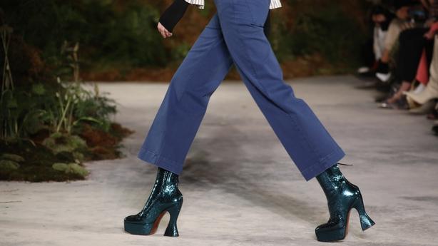 Platform boots at Alexa Chung AW19 (Isabel Infantes/PA)