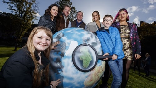 Clodagh Donnelly, Maia Dunphy, Paul Cunningham, Phillip Boucher-Hayes, Roz Purcell, Eoin Larkin and Tara Stewart take a closer look at climate change (Pic: Andres Poveda)