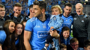 Bernard Brogan with his son Donagh after this year's All-Ireland final replay defeat of Kerry