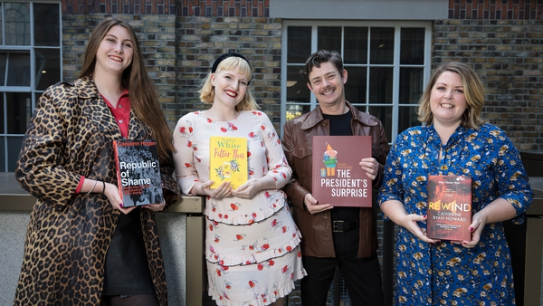 Pictured at the shortlist announcement - nominated authors Caelainn Hogan, Sophie White, Peter Donnelly and Catherine Ryan Howard©Patrick Bolger