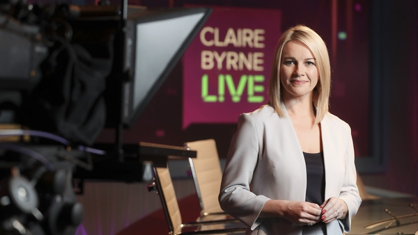 Claire Byrne co-presented the programme via video link from her home
