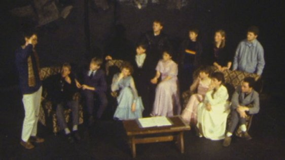 Leaving Certificate students during rehearsal in the Druid Theatre, Galway (1984)